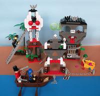 ORIGINAL PACKING 2014 new designed  toy ABS blocks  440 pcs  Corsair castle building bricks house model christmas gift for  girl