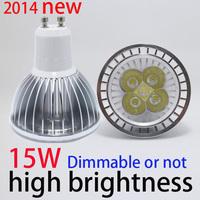 Free shipping good and low price Dimmable15w par20 led CE gu10 e14  GU5.3 e27 High Power LED Lamp White LED Bulb Light Spotlight