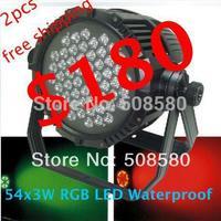 4pcs/lot, LED Bar Wedding disco light 54 pcs x 3W RGB / RGBW Waterproof LED Par Can light stage dj