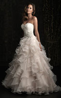 Have a level Fashion Organza Nectarean White Best-Selling Sweetheart Free shipping Bridal Gown Wedding Dresses