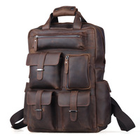 Backpack Fashion 2013,Weekender Bag, Crazy Horse Leather Backpacks For Camping  Casual Style Carry On Luggage Hiking bag 30813