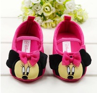 Hot sell newest 2014 Baby shoe soft outsole toddler shoes Mickey Mouse  footwear infant first walkers 0-1 year old free shipping