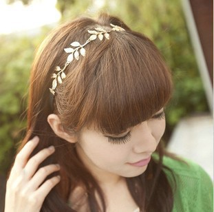 Min Order $10(mixed) pure British style star romantic olive branch leaves decorative ribbon hair bands TS-007