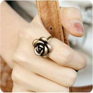 Korean Retro Rose Rings Battle Hymn of the jewelry wholesale  JZ-034