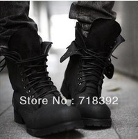 Hot retro military combat boots men casual boot black brown suede shoes A460 Martin boots