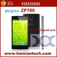 Original ZOPO ZP780 MTK6582 Quad core Cell phones 5'' Capacitive Touch Screen 1GB RAM 4GB ROM mobiel phone Dual sim OTG GPS