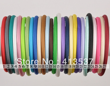 60 pcs Free Shipping Boutique Satin Headband for babyies