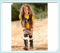 Free shipping 2014 New design fashion Children's clothing set girl 3 piece children clothing sport set