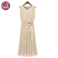 New 2014 Summer Elegant Pleated Chiffon Short Sleeve Long Dress Wholesale Cocktail And Party Dresses Free Shipping