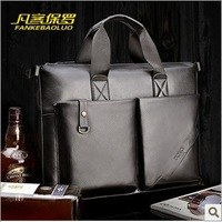 2013 New Fashion Genuine leather briefcase leather laptop bags for men Leisure multi-functionalshoulder bags business bag