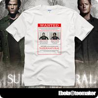 2014 / printed novelty Supernatural short-sleeve T-shirt  plus size loose summer casual shirts