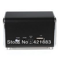 HIFI Mini Speaker MP3 Player Amplifier Micro SD TF Card USB Disk Computer Speaker with FM Radio Silver/Black Free Shipping