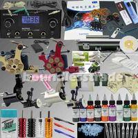 OPHIR PRO 356PCS Tattoo Kit 4 Motor Machine Gun 9 Ink Pigments Power Needle Set_TA008