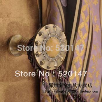 2014 Curtain Tassel Freeshipping Wine Home Decoration Quality Fashion Brief Marble Rhinestone Curtain Hook Wall Accessories E4