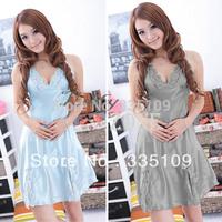 Sexy Women Strap Lace Embellished Sleep Dress Sleep Skirt Night Skirt 8Colors 14046