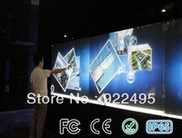 "BIGGEST PROMOTION:  2 points 32"" Infrared Touch Screen frame, 16:9 format for multi touch table, advertising, interactive wall"