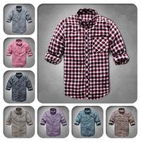2014 Time-limited Men Outdoor Shirts for Men/Free Shipping+Promotion Plaid Shirt Mens Floral Shirt/Fashion Design Men's Shirts