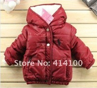 Hot~High quality,winter children's clothing, polo boy's Winter to keep warm even cap coat, baby clothes,