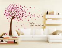 Tree Wall Decal Stickers Baby Room Nursery Vinyl Decor Cherry Blossom Tree Art