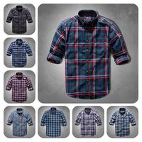 Hot Sale Long Sleeve Shirt Mens Shirts Fashion 2014/Fashion Camisa Slim Masculina Brand Shirts/Free Shipping Mens Flannel Shirt