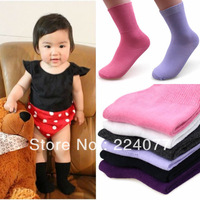 5pair/lot 1-3 age Thick autumn winter Europe Baby Kids Short socks keep warm sheep plush Angora wool blend 1-3age 5 color