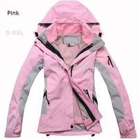 2014 Hot New Women Winter Slim 3-in-1 Jacket Fleece Two-piece Ski Coats Outdoor Waterproof Windproof Breathable Suit Coats+Pants