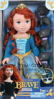 Genuine Pricness Doll  Brave Merida Children Toys Dolls For Girls Free Shipping