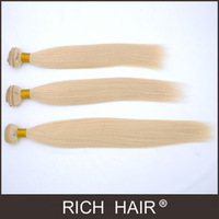 DHL free shipping Factory price 8-30 inch Straight Light Blonde 613# Filipine Hair Extension