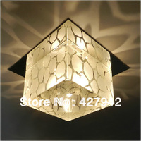 Modern Led Crystal Lamp 3W Aisle Corridor Lights Recessed Ceiling Down Entrance Lights Living Room Lights Spotlights Warm White