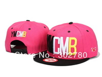 Ymcmb unique pink and black  button baseball cap casual hiphop hip-hop cap ny flat along the cap hiphop cap ny female hat