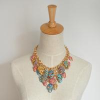 Wholesale Pendant Bib Luxury Statement Women Chokers Multilayer CRYSTAL SKULL CLUSTER Y SHAPE 2013 Designer Free Shipping