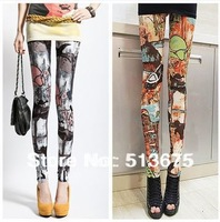 Free Shipping 2014 spring new fashion original indigenous tribes microfiber printing Leggings pantyhose