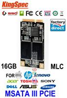 factory direct Kingspec Mini Pcie MSATA ssd 16GB SATA3 HD SSD Internal Hard Drives solid state drive MLC For Tablet PC  MID