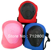 High Quality 1 Set(6pcs)Children Cycling Roller Skating Knee Elbow Wrist Pads Kid Outdoor Sport Protector Boys&Girls Black Color