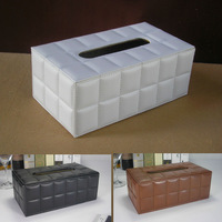 modern rectangle leather tissue napkin toilet paper box holder case dispenser home decoration white1286