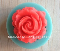 Free shipping 1Pcs Rose shape Chocolate Candy Jello 3D silicone Mold Mould cake tools Bakeware Pastry bar Soap Mold