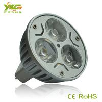 Environmental DC 12v mr16 3w high power aluminium led spotlight 5pcs/lot used for shop decoration warm & cool white wholesale