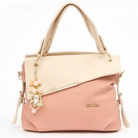 Free Shipping Hot high grade woman Leather Handbag candy color fashion designer Shoulder Bags Woman HandBag