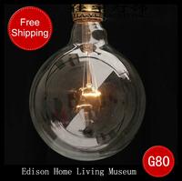 Silk light bulb pendant light vintage american bar table clothes ,Dragonball Edison bulb diameter 80 Free shipping