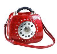 Fashion Retro 3D Telephone Shape Women's Handbag Small Messenge Bag For Lad Shoulder Cross Body Tote Bag Cute Girl Amliya 2014