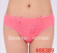 Free shipping 100% cotton low waist ladies briefs.wholesale woman sexy lace briefs.stock for ladies. size M,L .XL