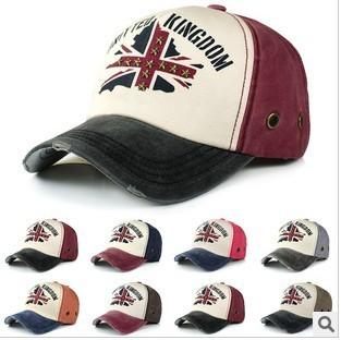 6 pcs lot fashion adjustable Unisex cross star Denim patchwork hats,Baseball Caps MH09