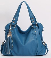2013 New Geniune Leather Handbag Fashion Tassel Shoulder Tote Handbags of Famous Women Sheepskin Bag 123