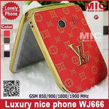 13 Russian keyboard Flip Dual SIM Quad-bands unlocked luxury women girls ladies leather cell mobile phone cellphone WJ666 P17