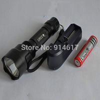 UltraFire C8 CREE Q5 5 Mode Flashlight Torch Light  with battery