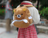 2013 Brown Bear Decompression Burdens Schoolbag Cute Stuffed Animal Cartoon Backpack Children's Backpack Free Shipping