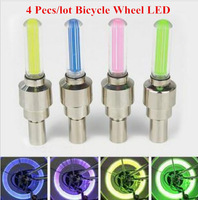 Bicycle Light Valve Cap Wheel LED 4mix color Neon bike lamp Tire Flash Light cycling accessories Hot wheel bicicleta bycicle luz