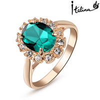 Italina Red Apple 18K Rose Gold Plated Genuine Austrian Crystal Ring For Women With Austrian Crystal Stellux #RA10204
