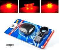 5pcs/lot Solar Power Bike Bicycle Rear Tail 2 LED Laser Light Lamp Accessories Wholesale Free Shipping
