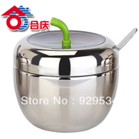 Free Shipping Stainless Steel Caster Seasoning Cans Suit Sugar Seasoning Salt Shaker Kitchen Appliance Box Kitchen Utensils
